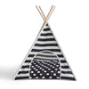 Striped Pet Teepee - Black