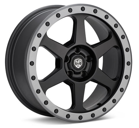 LP Aventure wheels - LP3 - 17x8 ET20 5x114.3 - Black W/Grey ring