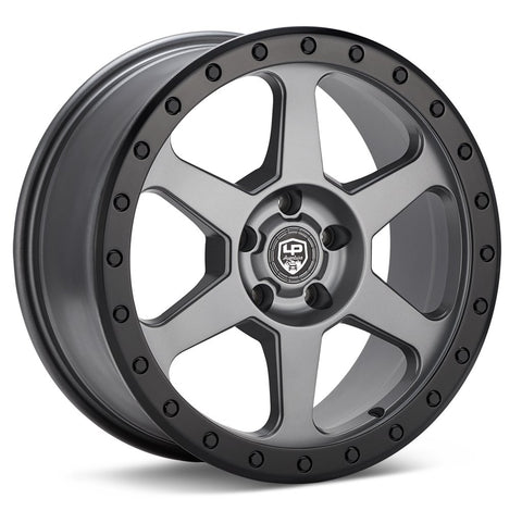 LP Aventure wheels - LP3 - 17x8 ET20 5x114.3 - Grey W/Black ring