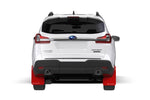 2018+ Subaru Ascent Red UR Mud Flap White Logo - MF49-UR-RD/WH