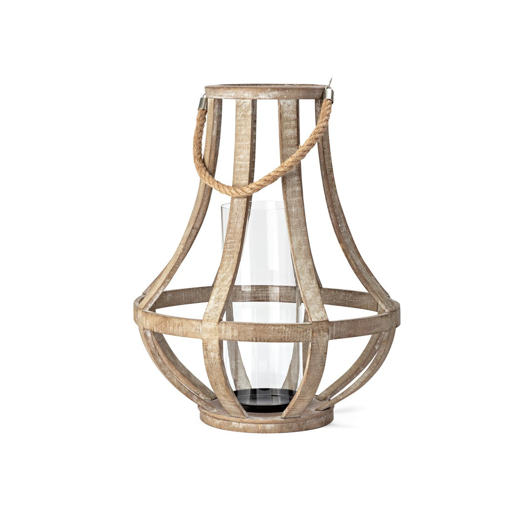 Distressed Wood Lantern