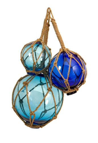 Blue Glass Float Trio