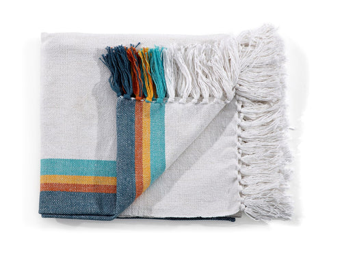 Colorful Woven Throw Blanket