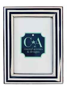 5x7 Navy and White Stripe Frame