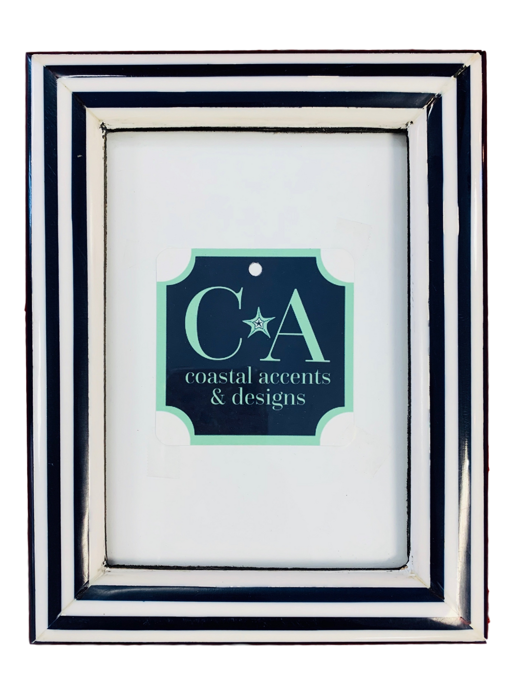 4x6 Navy and White Frame