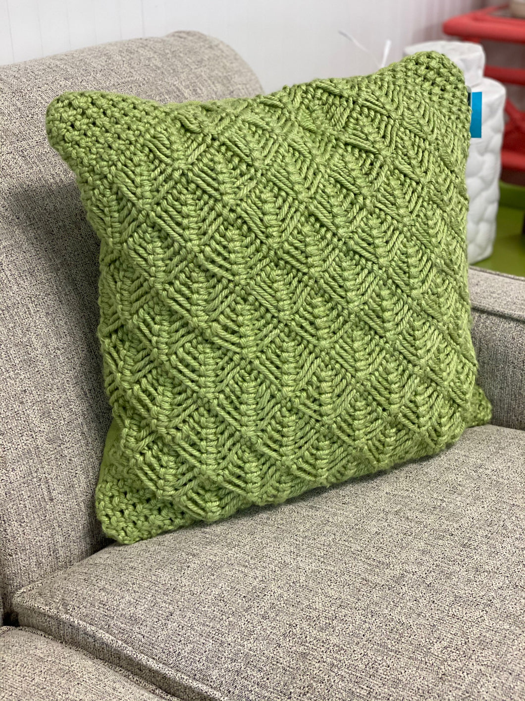Green Macrame' Pillow