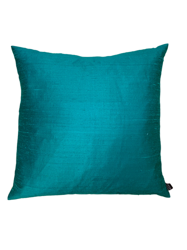 Turquoise Silk Pillow
