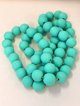 Load image into Gallery viewer, Teal Wood Bead Strand