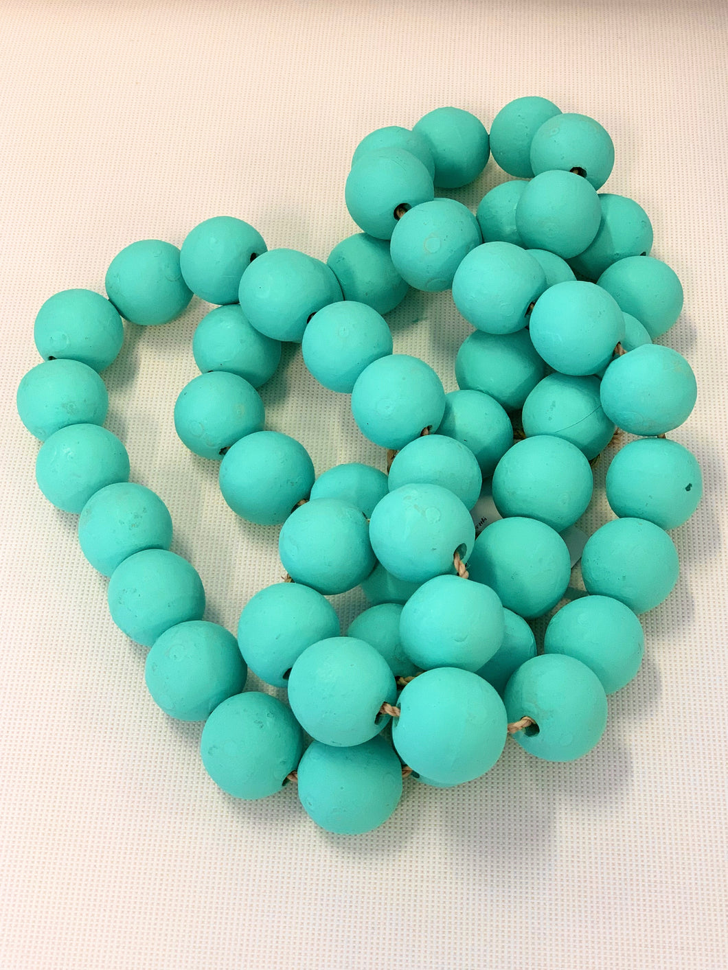 Teal Wood Bead Strand