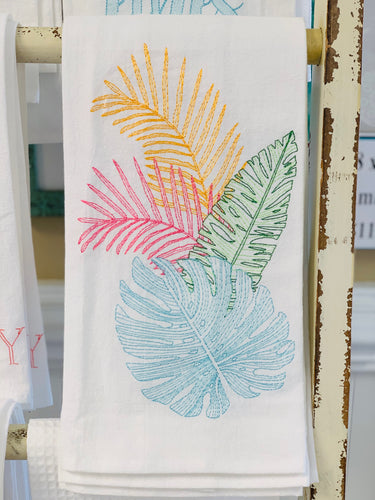 Tropical Leaves Hand Towel