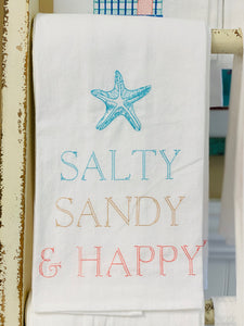 Salty Sandy & Happy Hand Towel