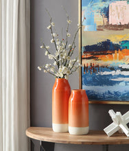 Load image into Gallery viewer, Orange Ombre Ceramic Vase Large
