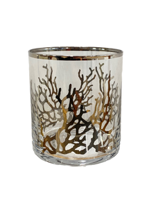 Coral Double Old Fashion Glass
