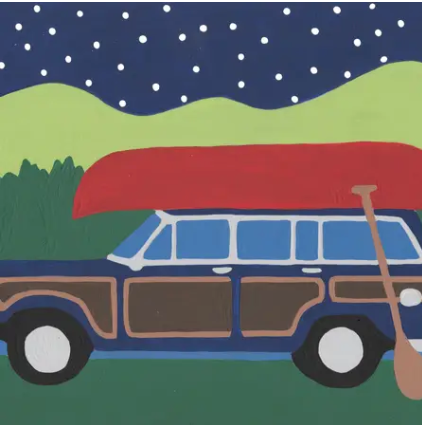 Summer Wagoneer - 9 Color Paint by Number Ki