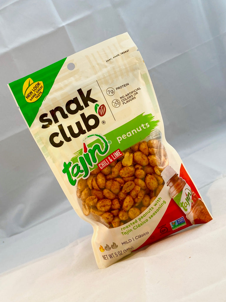 Box of Snak Club Tajin Chili & Lime Peanuts