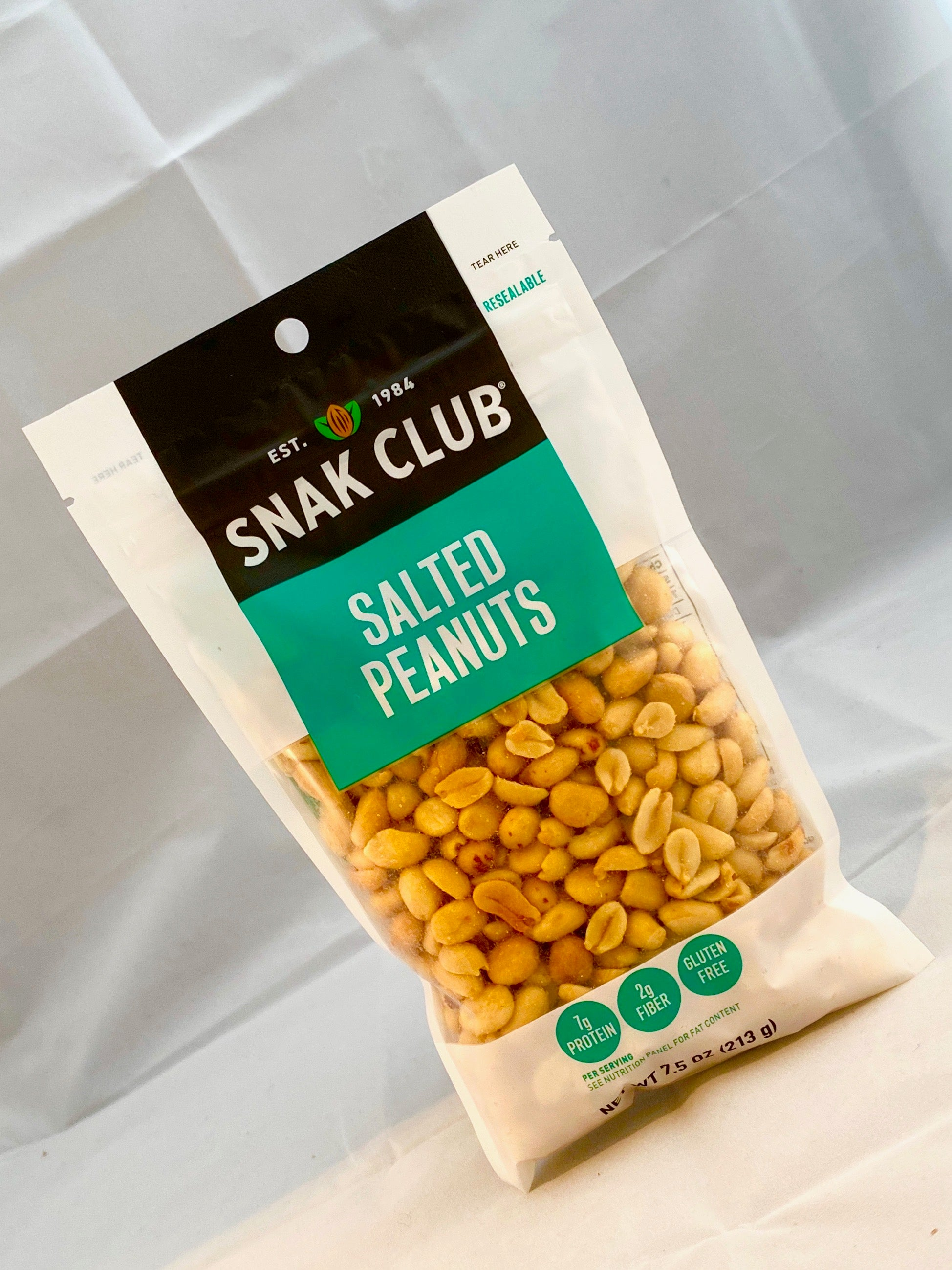 Box of Snak Club Salted Peanuts