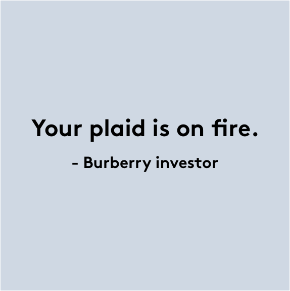 Your Plaid is on Fire.