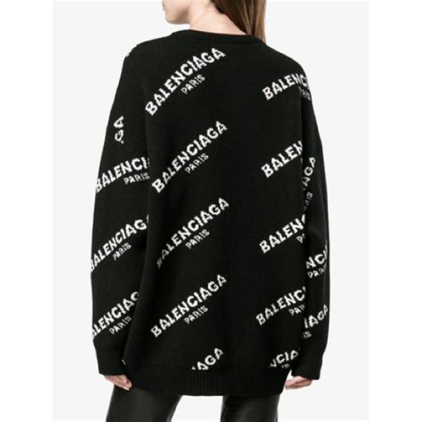 Balenciaga Oversized Logo Sweater