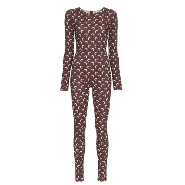 Marine Serre Crescent Print Fitted Jumpsuit