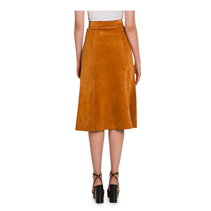 Prada Suede Snap Front Skirt