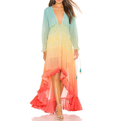 Rococo Sand Rainbow High Low Dress