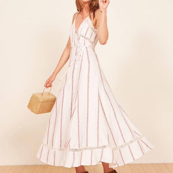 Reformation Daria Wrap Midi Dress