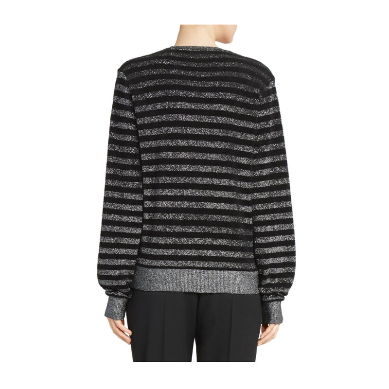 Saint Laurent Lurex Stripe Knit