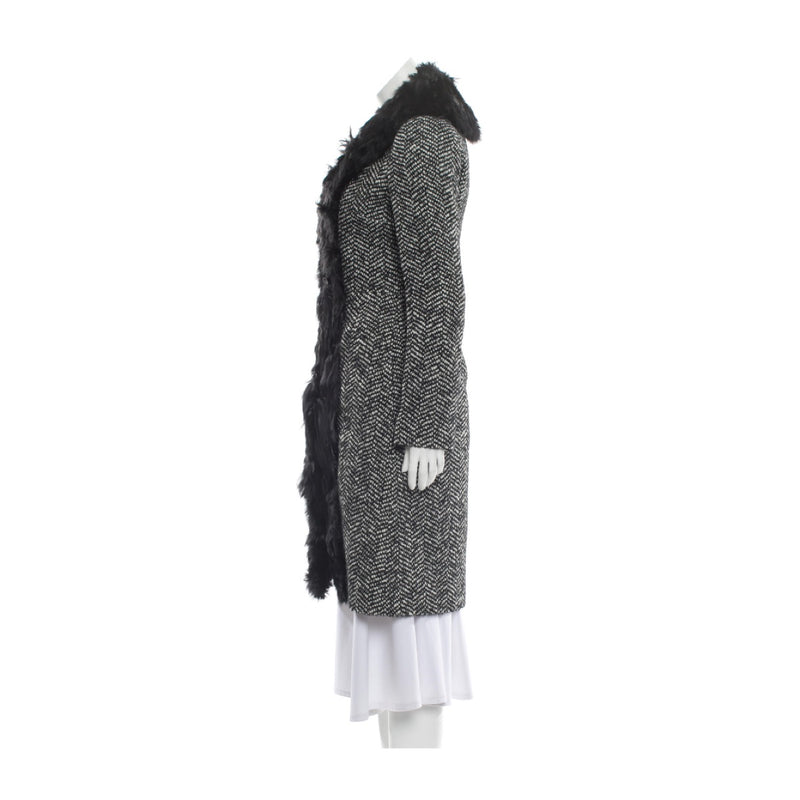 Dolce & Gabbana Fur Collar Coat