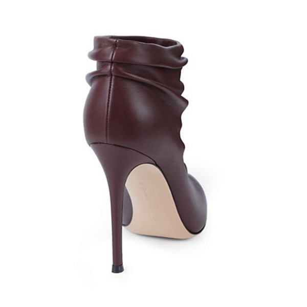 Gianvito Rossi Cyril Ruched Booties