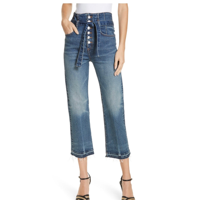 Veronica Beard High Rise Cinched Jeans