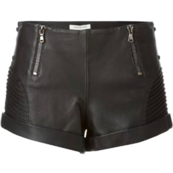 Balmain Leather Biker Shorts
