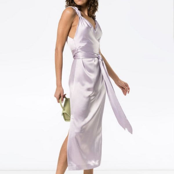 Nanushka Silk Wrap Dress