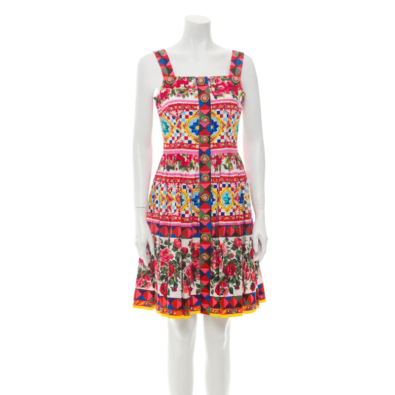 Dolce & Gabbana Floral Print Mini Dress