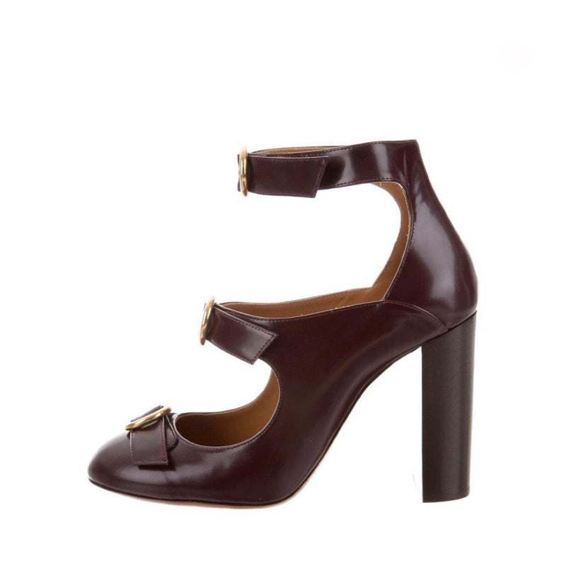 Chloé Leather Buckle Pumps