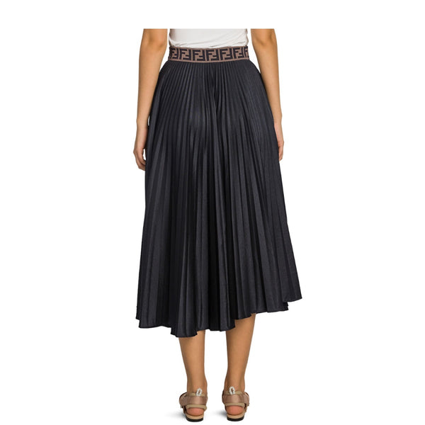 Fendi Techno Jersey Pleated Skirt