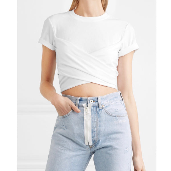 T by Alexander Wang Cropped Wrap T