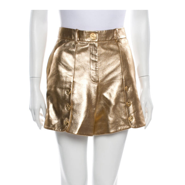 Chanel Leather Shorts