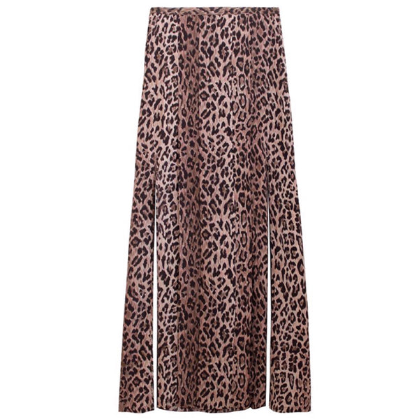 Rixo London Georgia Leopard Skirt
