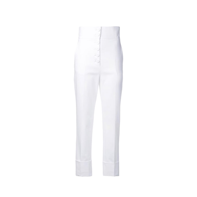 Sara Battaglia High Waisted Cropped Trousers