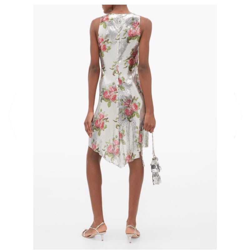 Paco Rabanne Floral Chainmail Dress