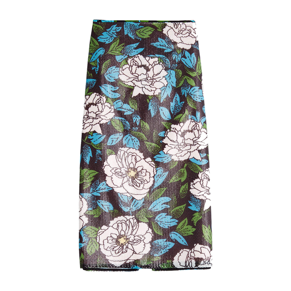 Diane von Furstenberg Sequin Floral Pencil Skirt