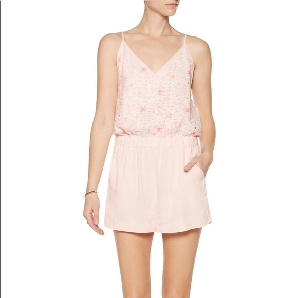 Maje Embroidered Playsuit
