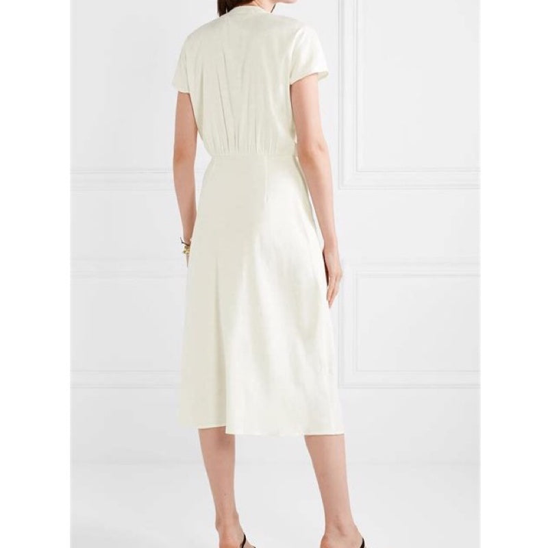 Veronica Beard Giana Tie-Front Dress