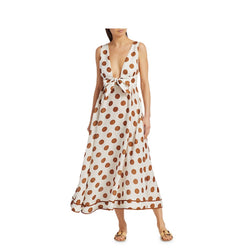 Zimmermann Empire Polka Dot Midi Dress