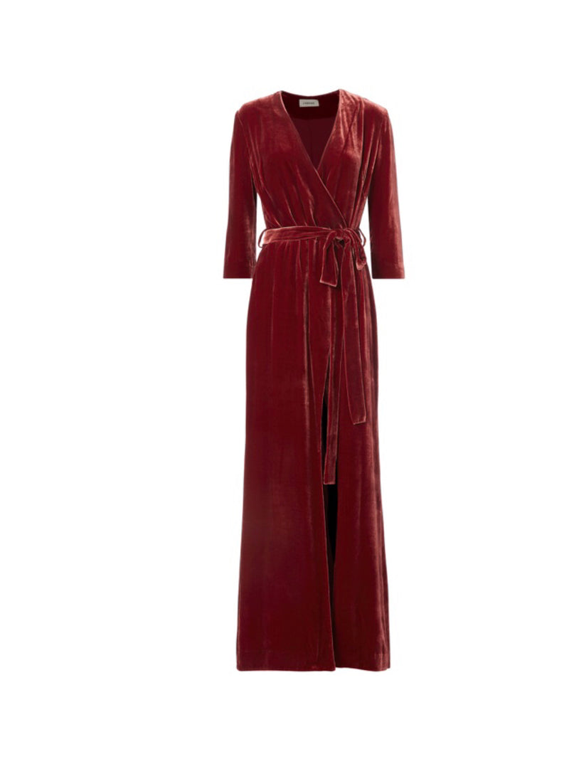 L'Agence Rosalind Velvet Maxi Dress