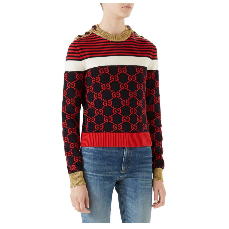 Gucci Stripe Logo Sweater