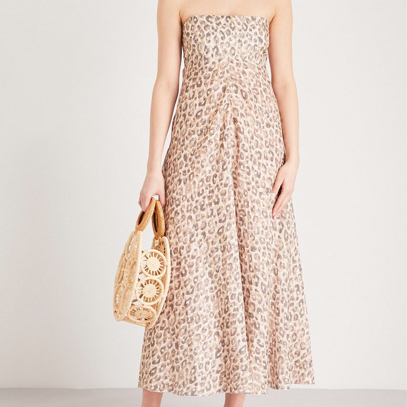 Zimmermann Melody Leopard Linen Dress