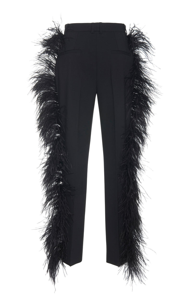 Dolce & Gabbana Feather Trim Pants