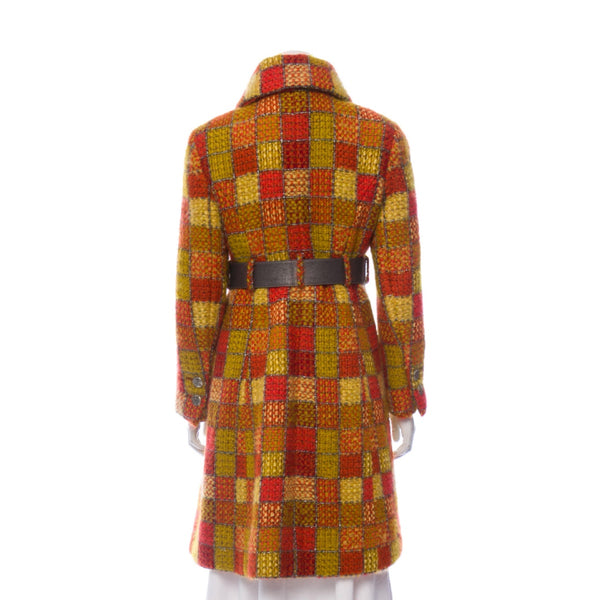 Chanel Check Wool Coat