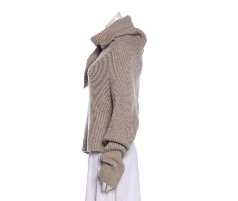 Wool Blend Asymmetrical Sweater
